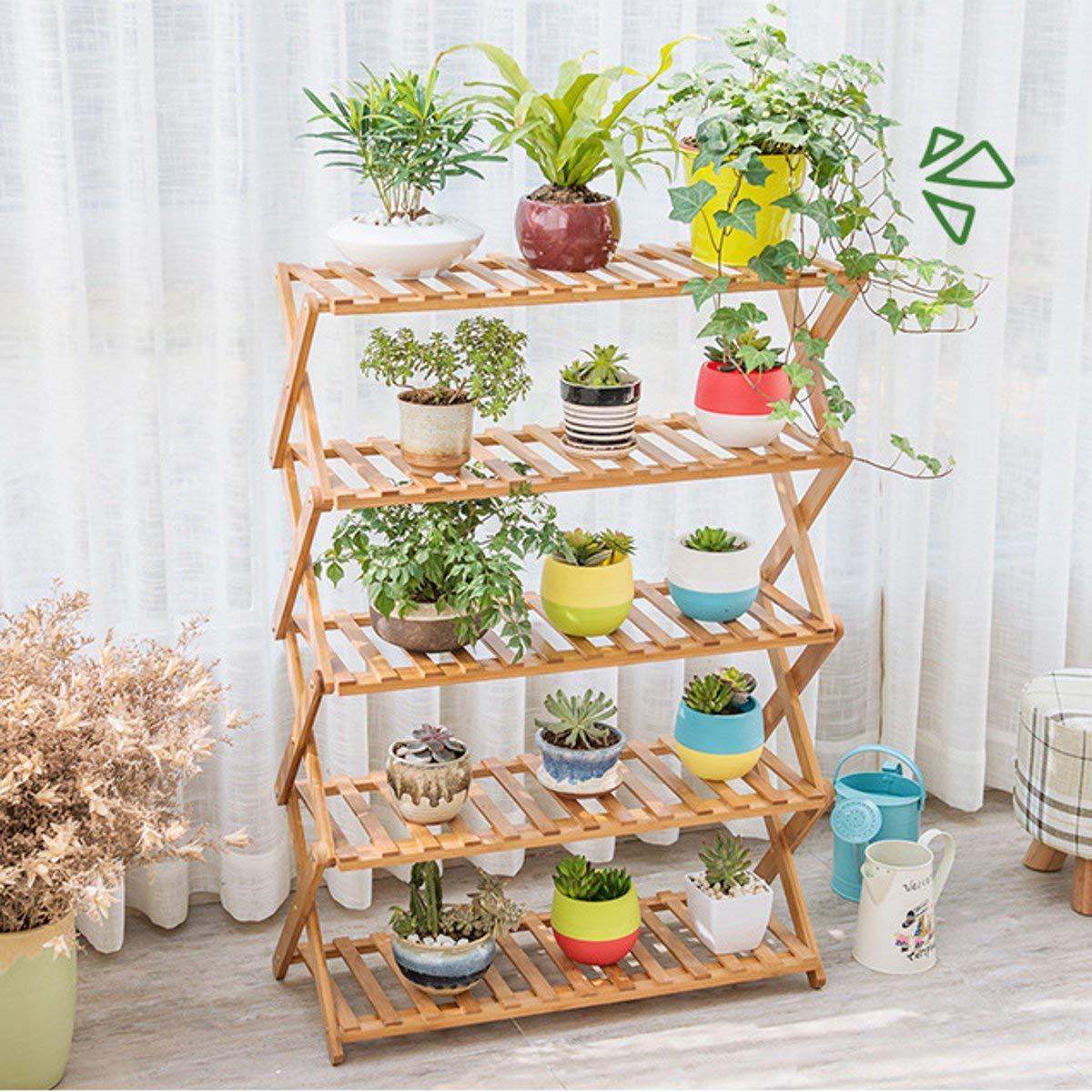 Giardino Balcone Flower Pot Plant Stand Fioriera Fioriera Vassoio Espositore Scaffale Organizer Decorazione pieghevole