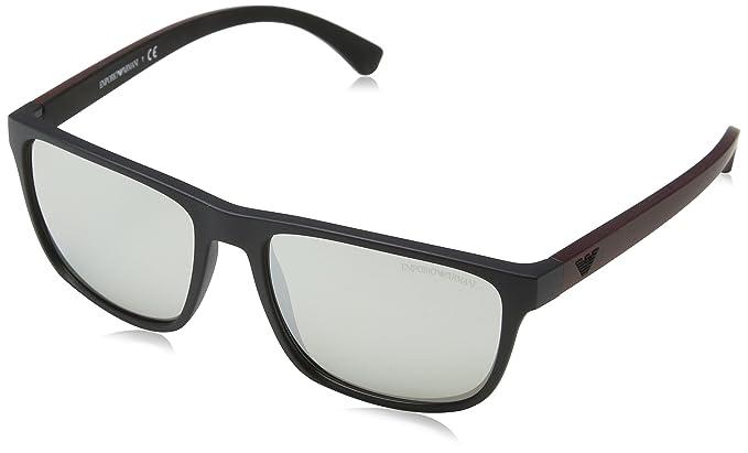 Simple Square Sunglasses in Matte Black EA4087 50426G 57 Emporio Armani jpYRDKHzNy
