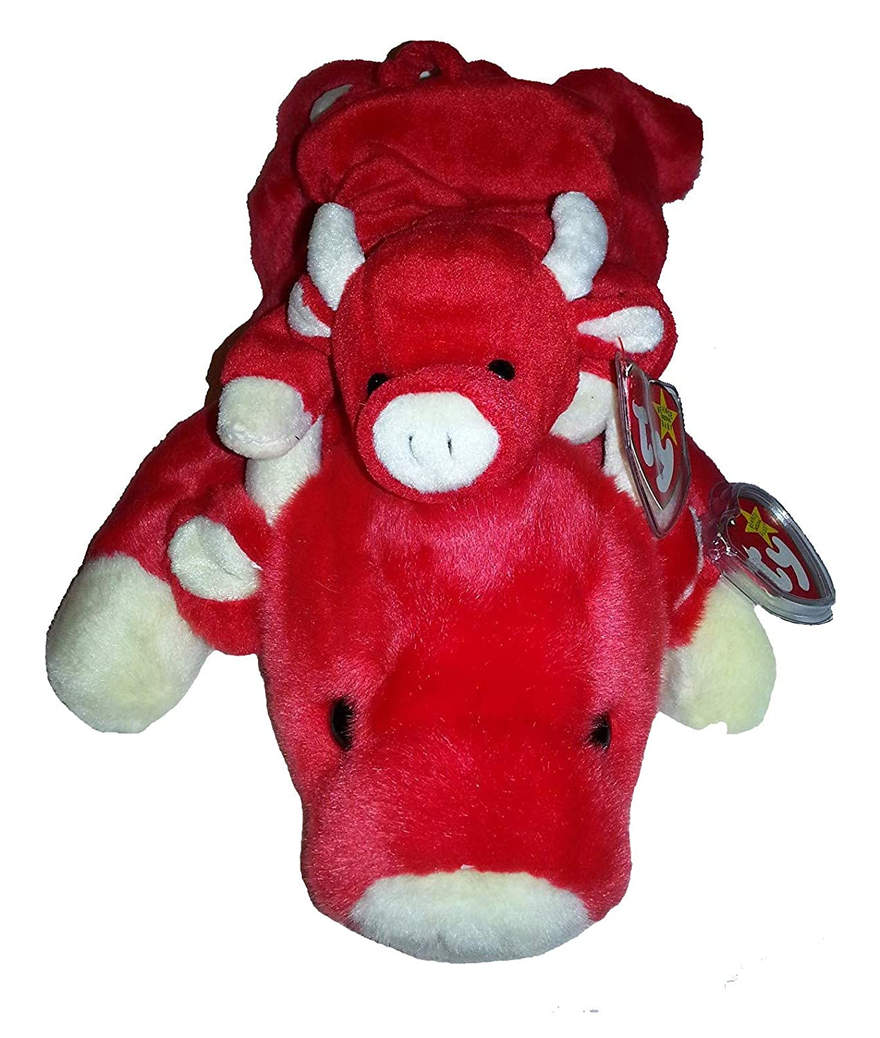 Amazon.com  Ty Beanie Baby and Buddy Set - Snort the Bull  Toys   Games f0e49417021