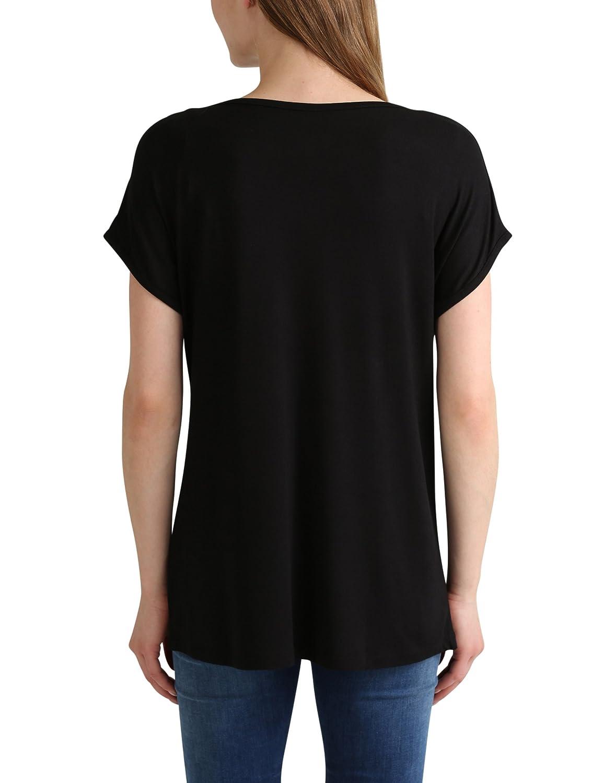 Berydale Damen Loose Fit T-Shirt mit glänzendem Folienprint: Amazon.de:  Bekleidung