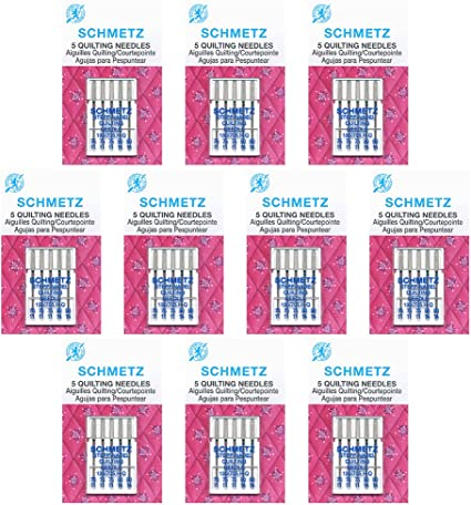 SCHMETZ Sewing Machine Needles Quilting-Assorted Sizes 5Pack