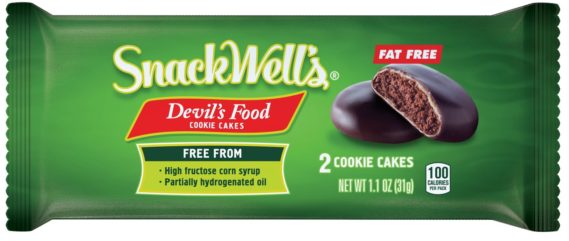 SnackWell's Devil's Food Cookie Cakes, Original, 1.1 Ounce (Pack of 8) by SnackWell's