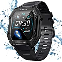 KOSPET Rugged Smart Watch for Men, 3ATM Waterproof Fitness Tracker with Blood Pressure/Blood Oxygen Monitor Activity…