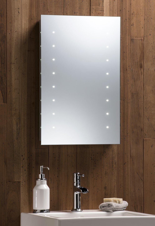 Led battery bathroom mirrors - Led Battery Bathroom Mirror Illuminated 60cm X 40cm Easy Installation Hangs Both Ways Aluminium Frame With Lights Amazon Co Uk Kitchen Home