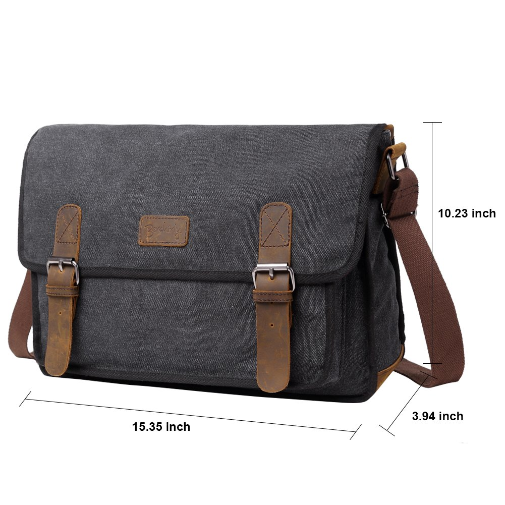 7754d6bcbb4d Amazon.com  Canvas Messenger Shoulder Bag for Men