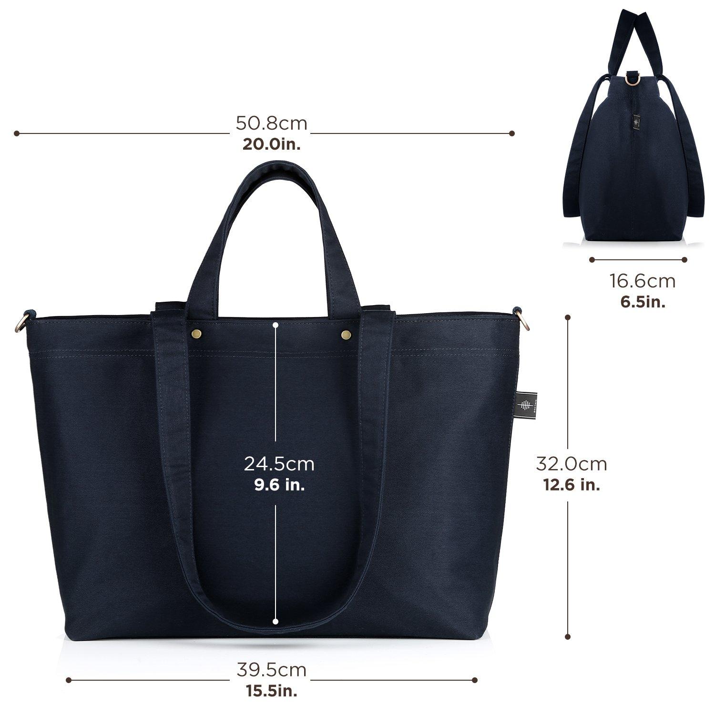 Schwarz BONTHEE Gro/ße Shopper Tasche Schwarze Handtaschen Damen Schultertasche