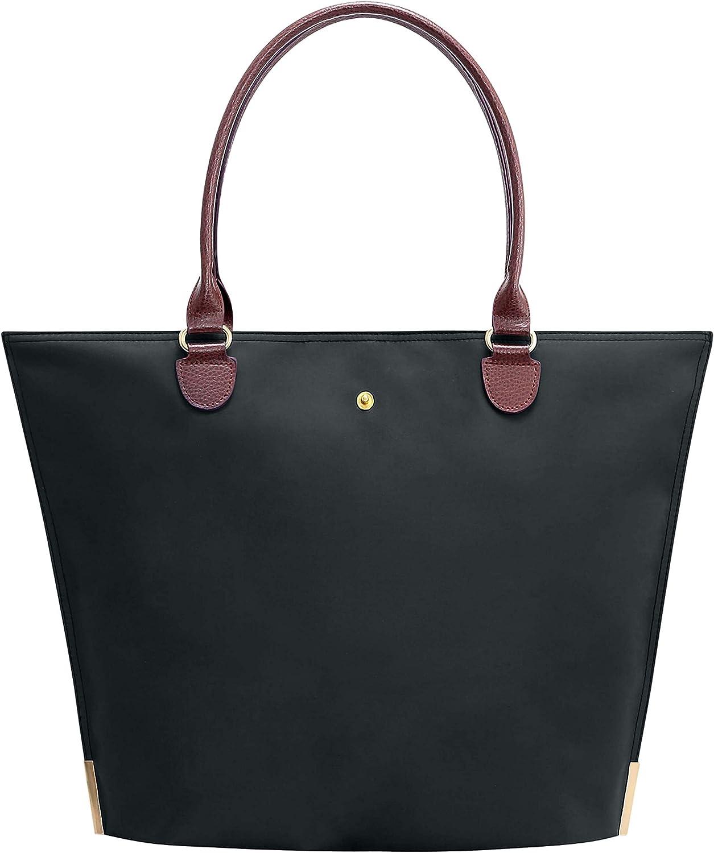 Tote Bag Fits 15.6-17 Inch Laptop,Womens Lightweight Water Resistant Nylon Tote Bag Shoulder Bag Messenger Bag