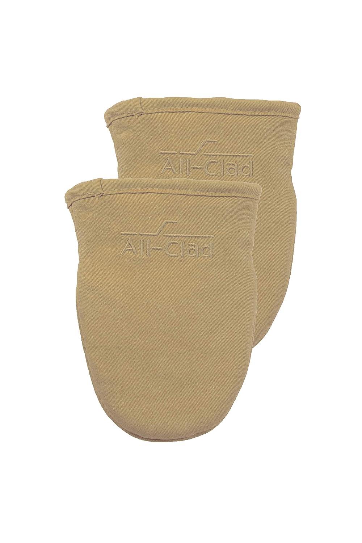 All-Clad Textiles 89878 Grabber Mitt, 2-Pack, Cappuccino