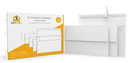 amazon com white invitation 5 x 7 envelopes 110 pack for 5x7