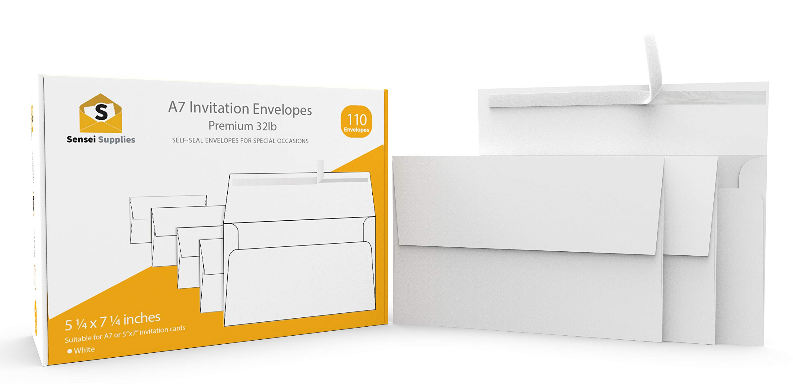 white invitation 5 x 7 envelopes 110 pack for 5x7 cards a7 5