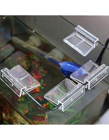 MOOSUNGEEK Pinzas de plástico para Tanque de Acuario, 4 Unidades, de la Marca