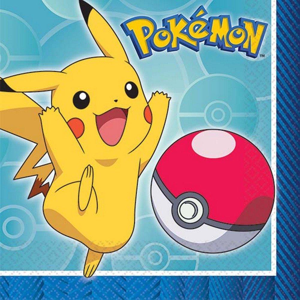 Pokemon Beverage Napkins [16 Per Pack]   B07BCZYBY5