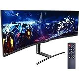 Viotek SUW49DA 49-Inch Super Ultrawide Monitor | 1440p 120Hz 4ms 1800R | 5120x1440p 32:9 Dual QHD Monitor | Zero-Tolerance De