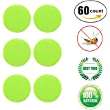 Wanfei Mosquito Patch 60/96 Count Insect Bonus Repellent Deet-Free Patches Anti-Mücken Aufkleber-Patch Sticker All Natural Citronella Oil Protection Perfect for the Family Kinder