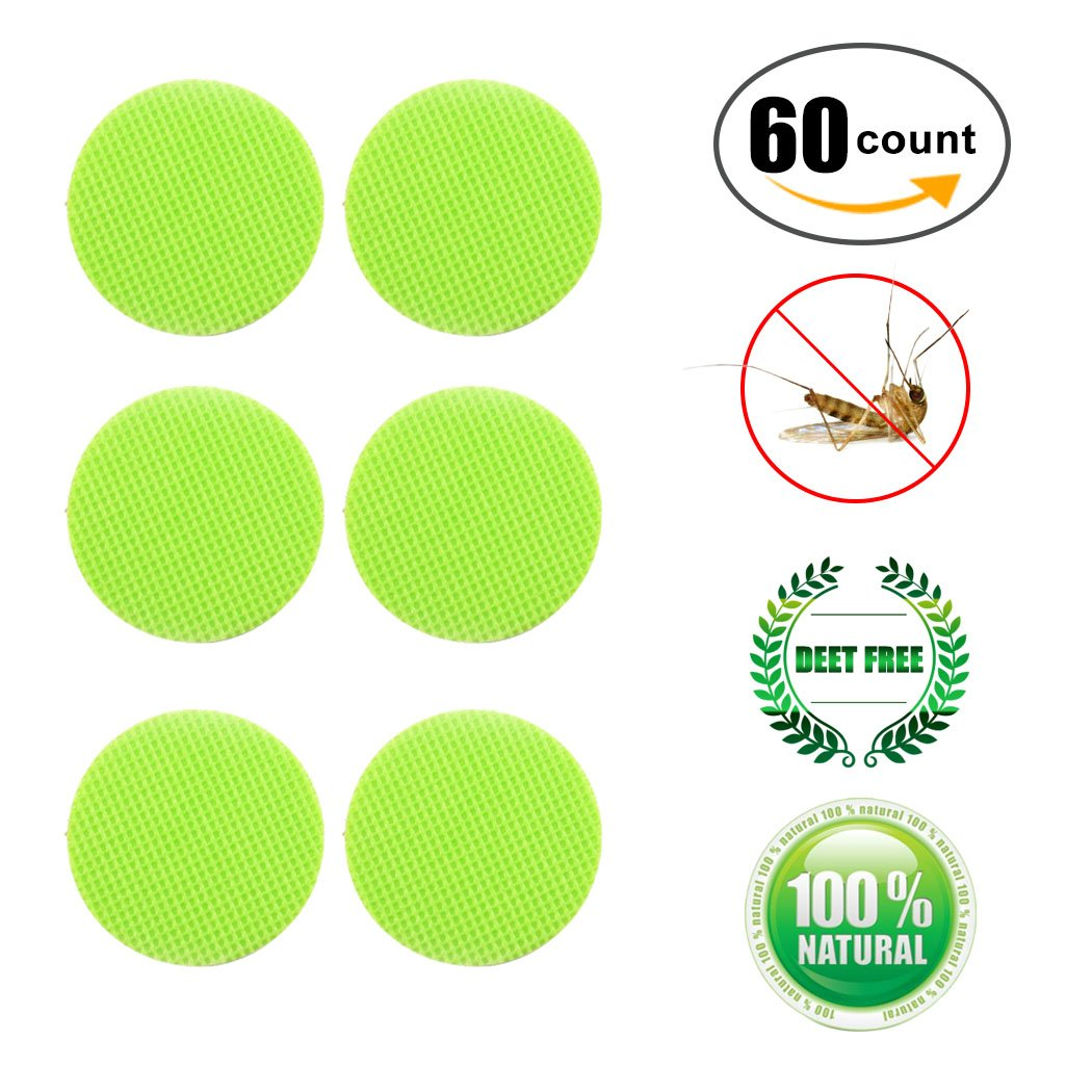 Wanfei Mosquito Patch 60/96 Insect Bonus Repellent Deet-Free Patches Anti-Mücken Aufkleber-Patch Sticker All Natural Citronella Oil Protection Perfect for the Family Kinder