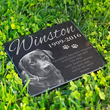 Lara Laser Works Personalized Dog Memorial With Photo Free Engraving Mdl1 Customized Grave Marker