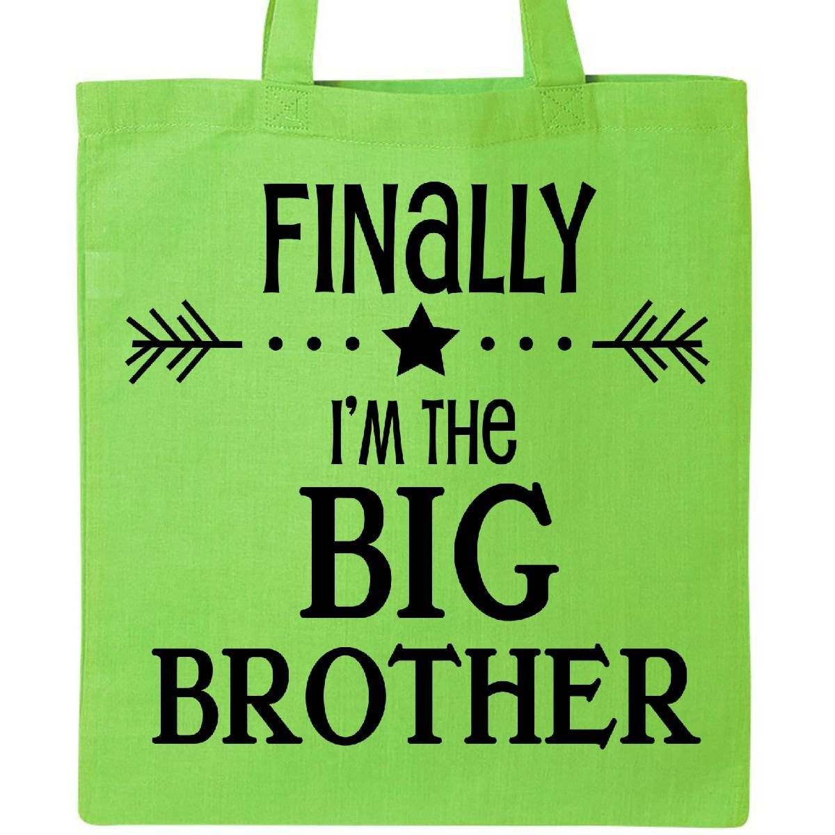 Inktastic – 最後にIm The Big Brotherトートバッグ One Size B077GK544S  ライムグリーン