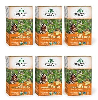 Organic India Tulsi Ginger Turmeric Tea