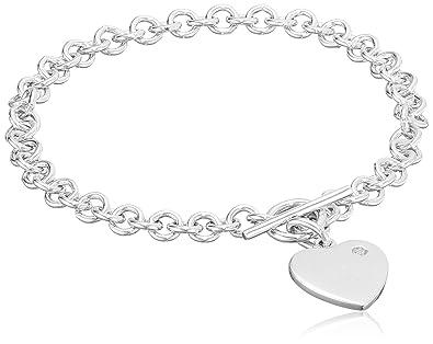 Hot Diamonds 0.01 Carat Diamond Bracelet in Sterling Silver SRZnvc