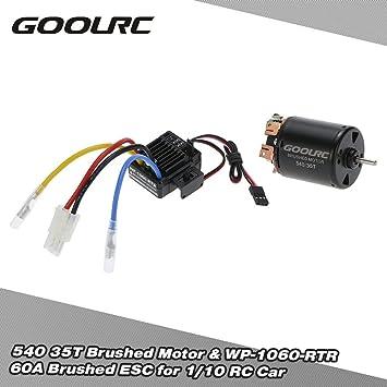 Wasserdicht Brushed 60A Elektronisch Fahrtenregler ESC 1060 für RC 1//10 Auto