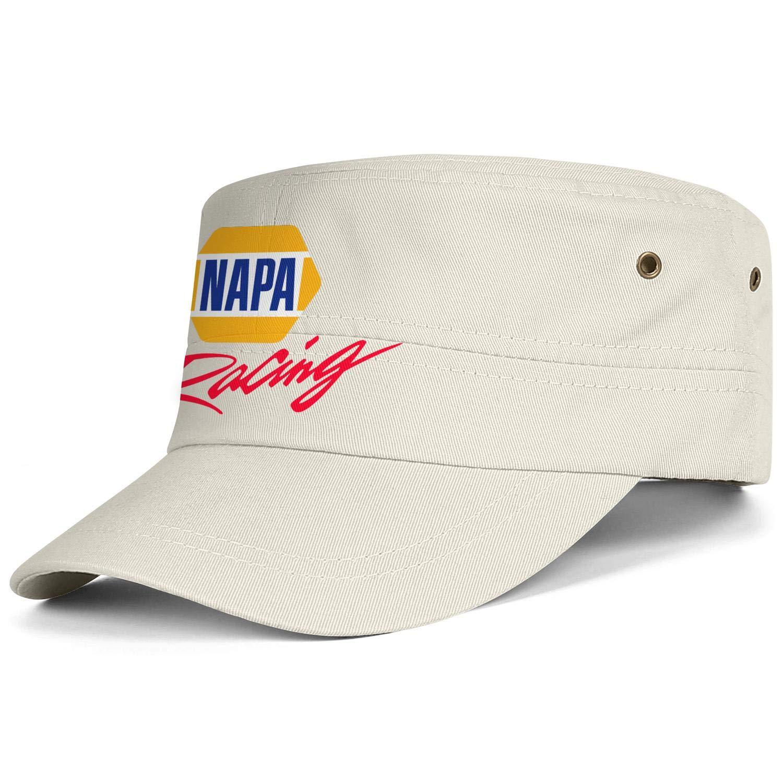 Adjustable Cadet Army Caps Strapback Hat Flat Top Cap Men Womens Military Caps NAPA-Racing-Logo