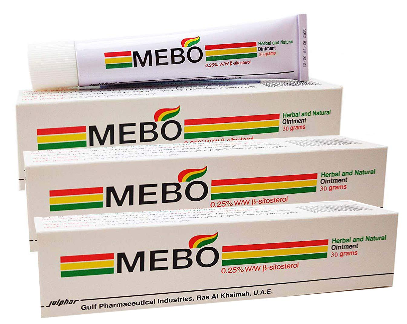 MEBO Burn Fast Relief Pain Cream Skin Healing Ointment Wound & Scar No Marks Care Fast First Aid Health Beauty Care (3 Tubes x 30 grams)