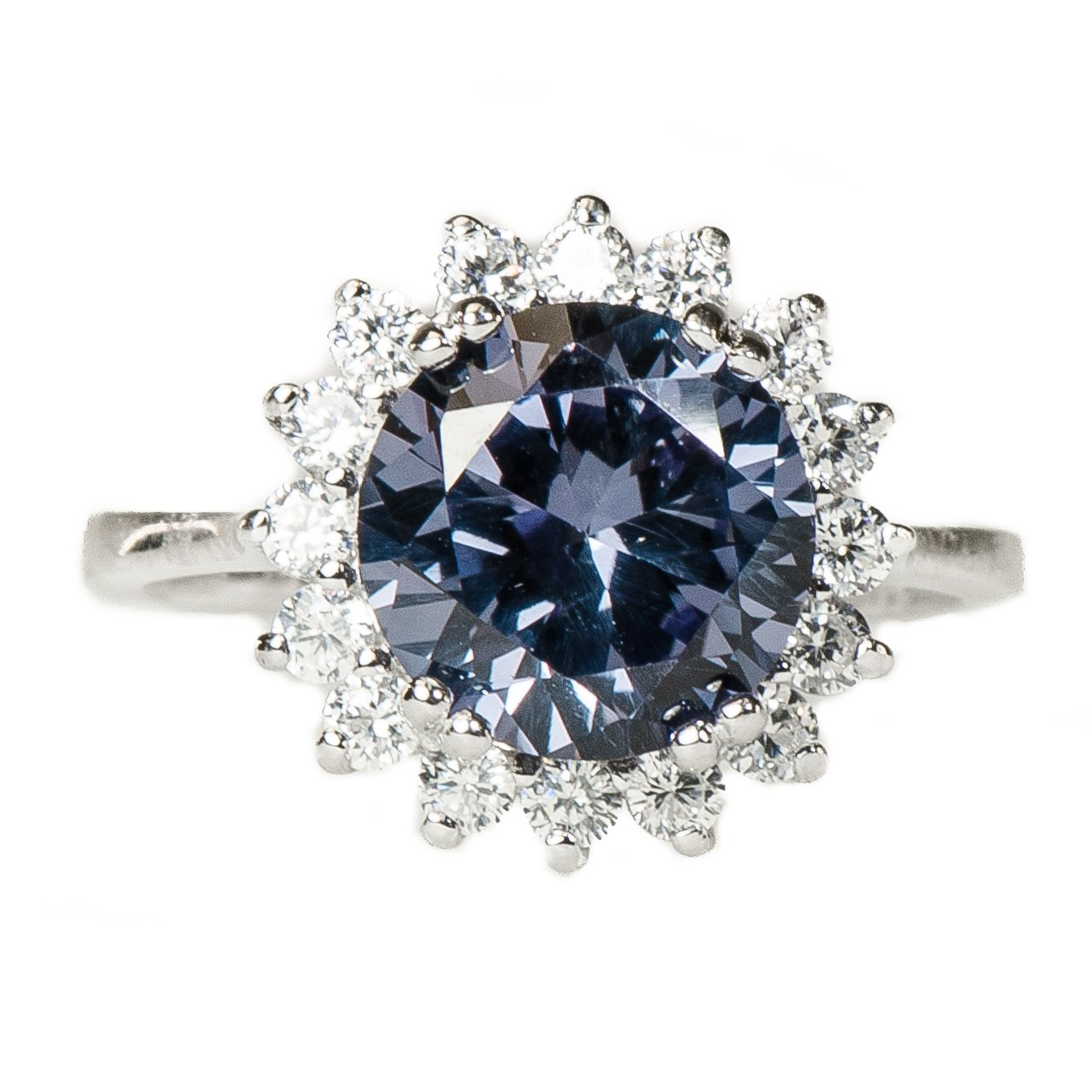 Caratera Hypnotic Color Change Syn Alexandrite Engagement Ring