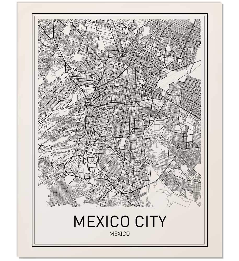 Amazon.com: Mexico City Poster, Mexico City Map, City Map ... on need a map of north america, need a map of california, need a map of europe,
