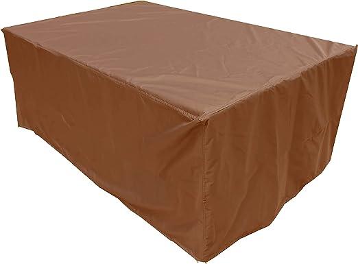 KaufPirat Premium Funda para Muebles de Jardín 150x90x75 cm Cubierta Impermeable Funda para Mesa para Mobiliario de Exterior Negro: Amazon.es: Jardín