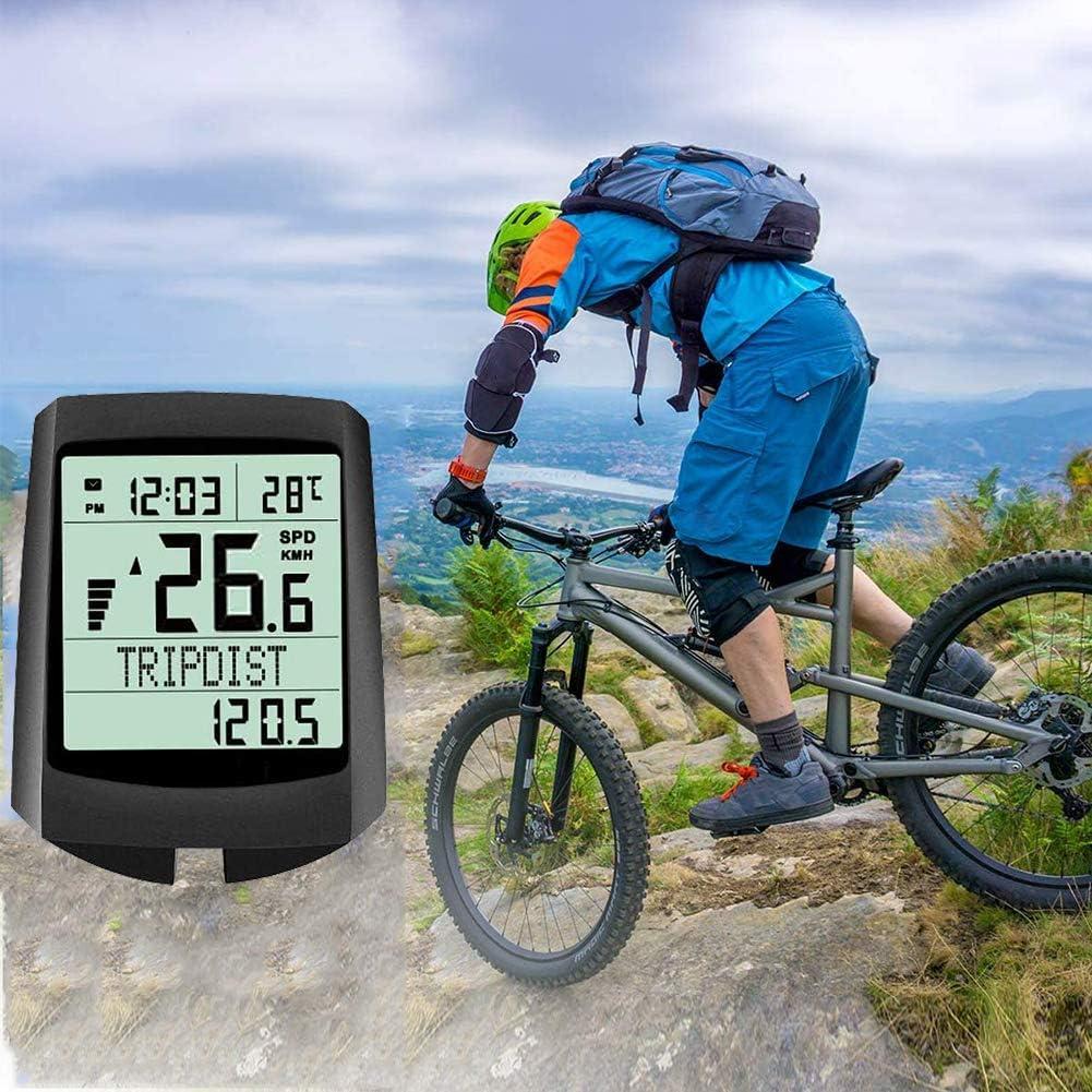 Lyeiaa Fahrradcomputer Kabellos 19 Multifunktions Fahrradtacho Fahrrad Tachometer Radcomputer mit LCD-Hintergrundbeleuchtung Kilometerz/ähler 5 Sprache f/ür alle Fahrradtypen IP65 wasserdichte