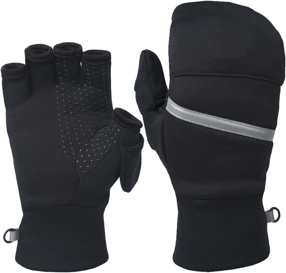 TrailHeads Power Stretch Convertible Mittens - Women's Fingerless Gloves: Clothing