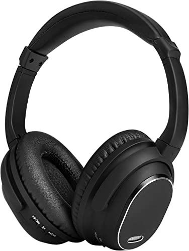 Active Noise Cancelling Headphones,MAYOGA Bluetooth Headphones with Mic Over-Ear Headphones Wireless Wired Headphones Comfortable Stereo ANC Headset,HiFi Deep Bass for Work Travel TV PC Cellphones