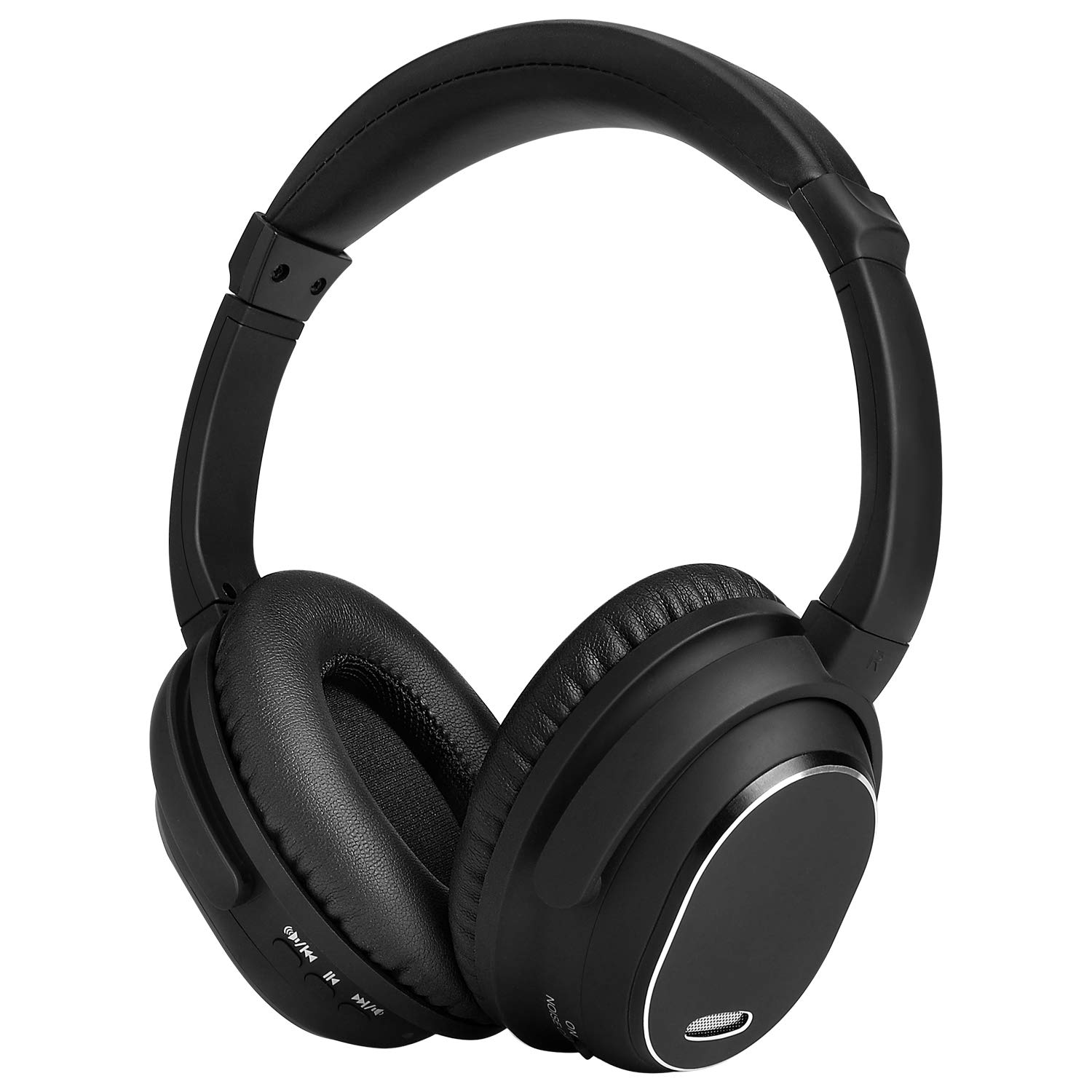 Active Noise Cancelling Headphones,MAYOGA Bluetooth Headphones with Mic Over-Ear Headphones Wireless/Wired Headphones Comfortable Stereo ANC Headset,HiFi Deep Bass for Work Travel TV PC Cellphones