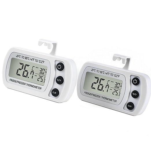 16 opinioni per Termometro Digitale per Frigorifero 2PZ LCD Display Termometri Impermeabile da