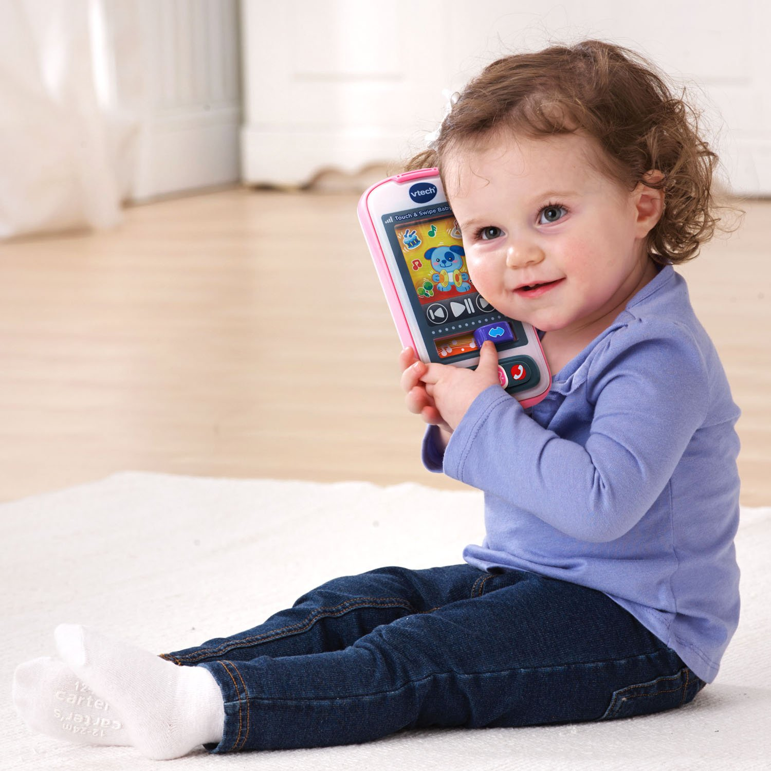 Frustration Free Packaging Orange VTech Touch and Swipe Baby Phone