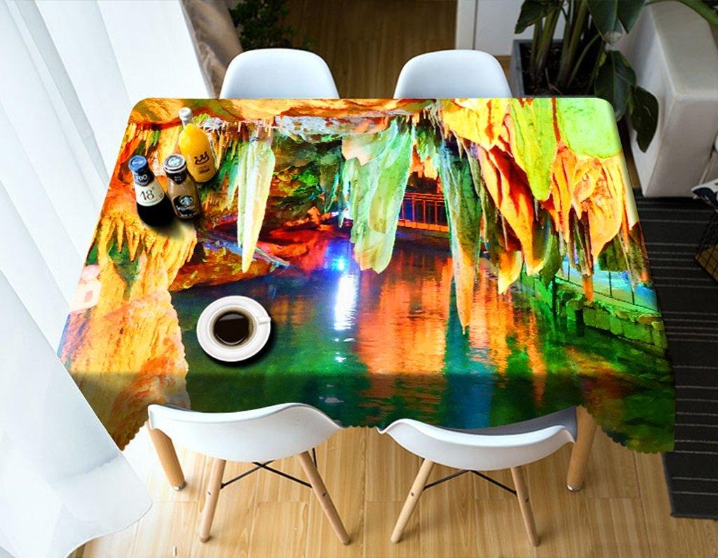 Promoción por tiempo limitado Ropa de Cocina Mantel Rectangular - Mantel Personalizado 3D PG01034 - ecológico y sin Sabor - Impermeable de impresión Digital (Tamaño : Square -228cm228cm)