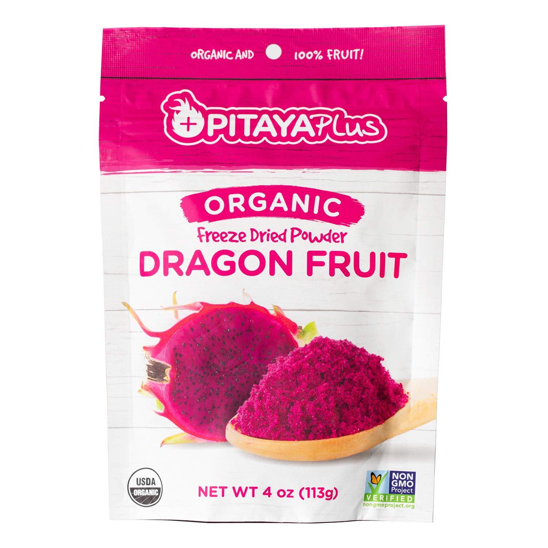 Pitaya Plus, Organic Freeze Dried Red Dragon Fruit Powder, USDA and Oregon Tilth Certified Organic (4 OZ)