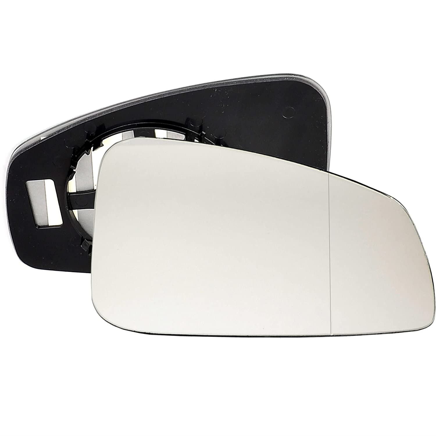Clip On Driver right hand side Heated wing door Silver mirror glass with backing plate #W-SHY//R-FDSX06