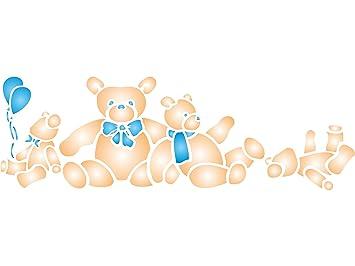 Teddybären Schablone U2013 (Größe 52 X 16,5 Cm) Wiederverwendbar Wand  Schablonen Für