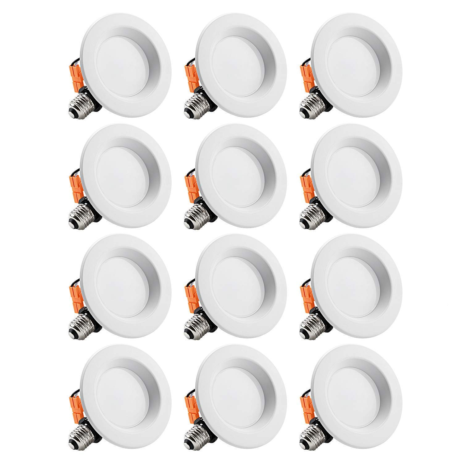 TORCHSTAR 12-Pack 4 inch Dimmable Recessed LED Downlight, 10W (65W Equivalent), CRI 90, ETL Listed, 5000K Daylight, 700lm, LED Retrofit Lighting Fixture, 5 Years Warranty