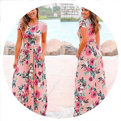 Amazon.com: Vestido de playa con estampado floral para ...