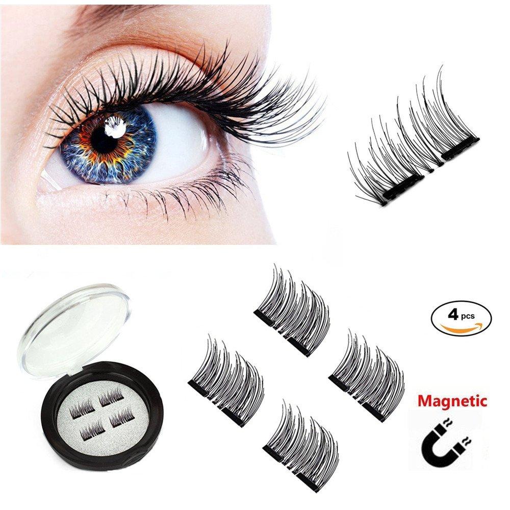 Fake Eyelashes With Magnet No Glue 3d Reusable Soft Magnetic False