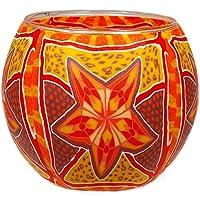 Him Red Star Cristal/portavelas candelabros, 11x11x9 cm