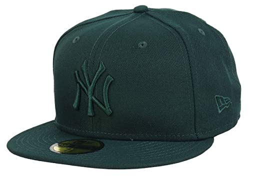 pretty nice 96926 03c9b New Era New York Yankees League Essential Dark Green MLB Cap 59fifty 5950  Fitted Men Special