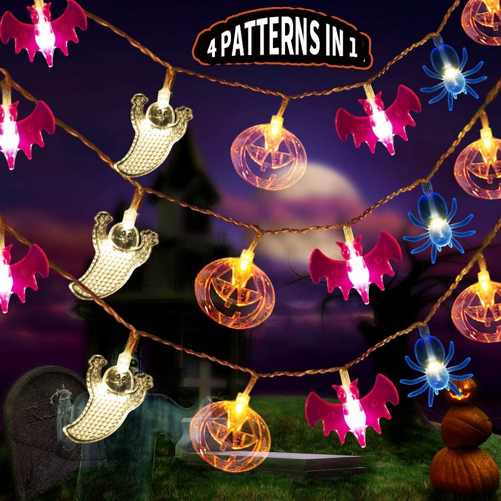 Halloween 2020 Lighting Amazon.: MZD8391 Halloween Decorations Lights, 4 Patterns in 1