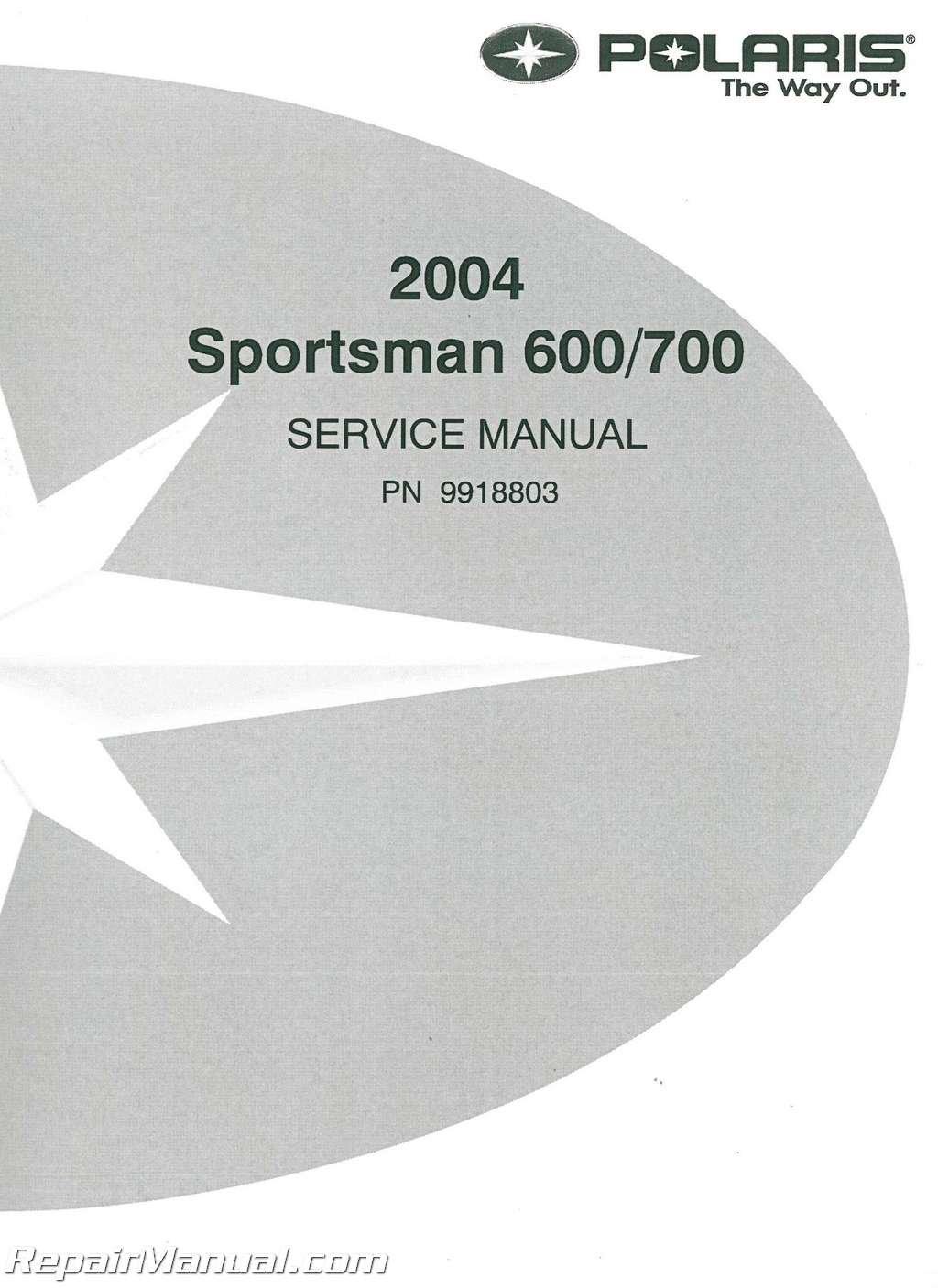 9918803 2004 Polaris Sportsman 600 700 Twin ATV Service Manual:  Manufacturer: Amazon.com: Books