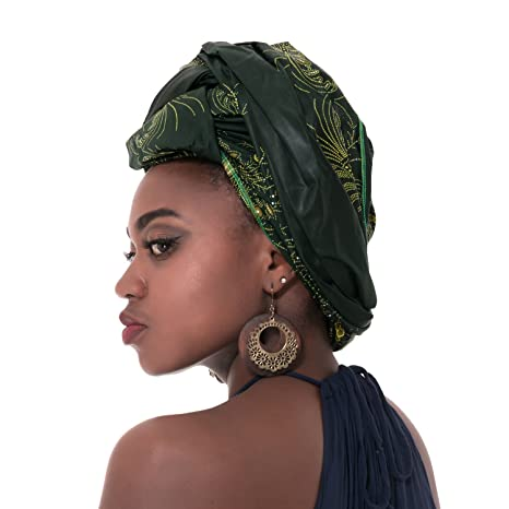 """Amazon.com: Chien African Print Head Wraps for Women Ankara Headband Decorations Wrap Tie Scarf Africa Headwear Hair Accessories Extra Long 70""""x20"""" (Color ..."""