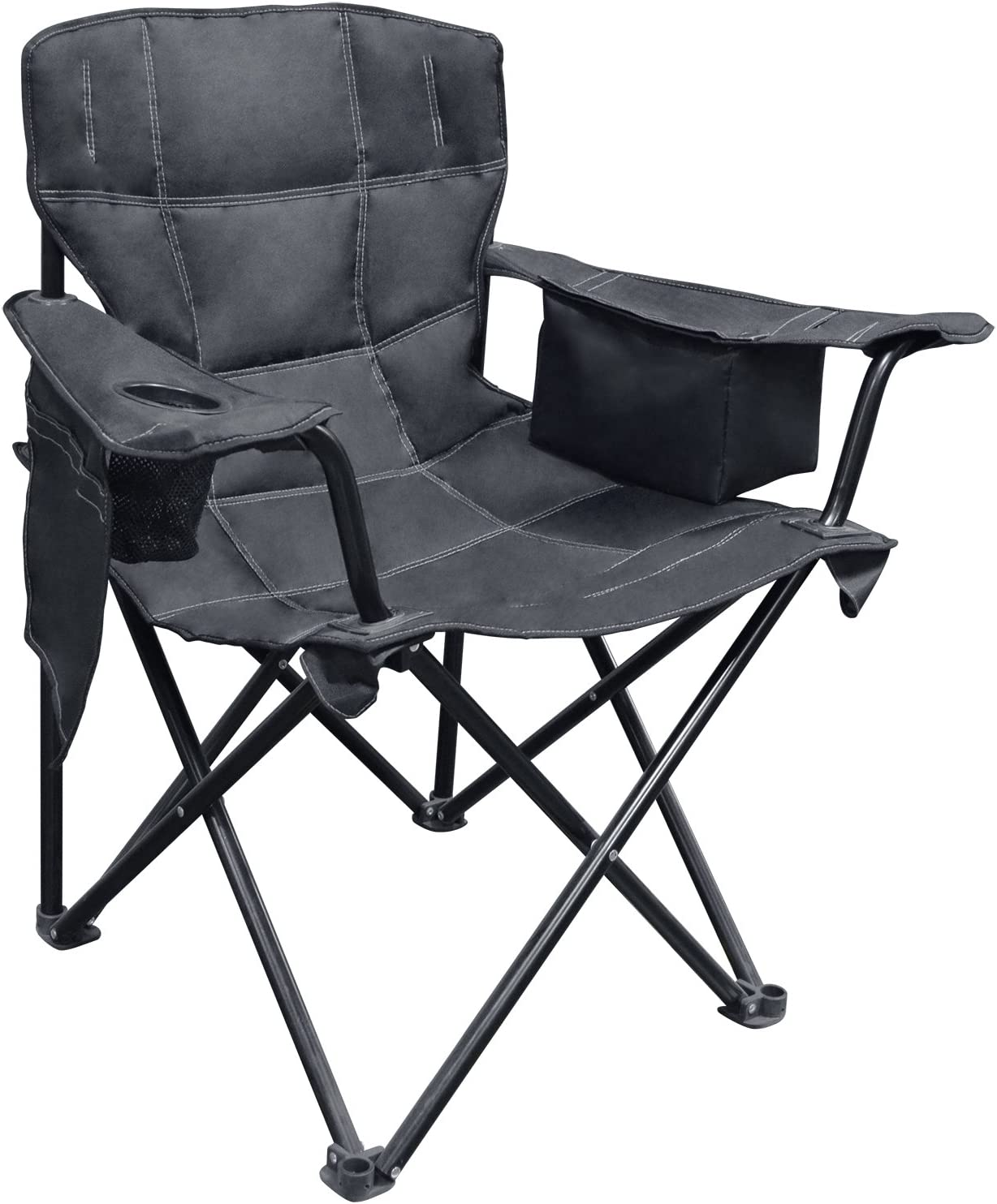 Amazon Com Caravan Sports Eqc01051 Solid Black Elite Quad Chair Garden Outdoor