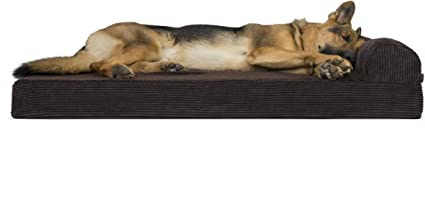 Espresso Deluxe Orthopedic Faux Fleece /& Corduroy Chaise Lounge Living Room Couch Pet Bed w// Removable Cover for Dogs /& Cats Furhaven Pet Dog Bed Jumbo Plus