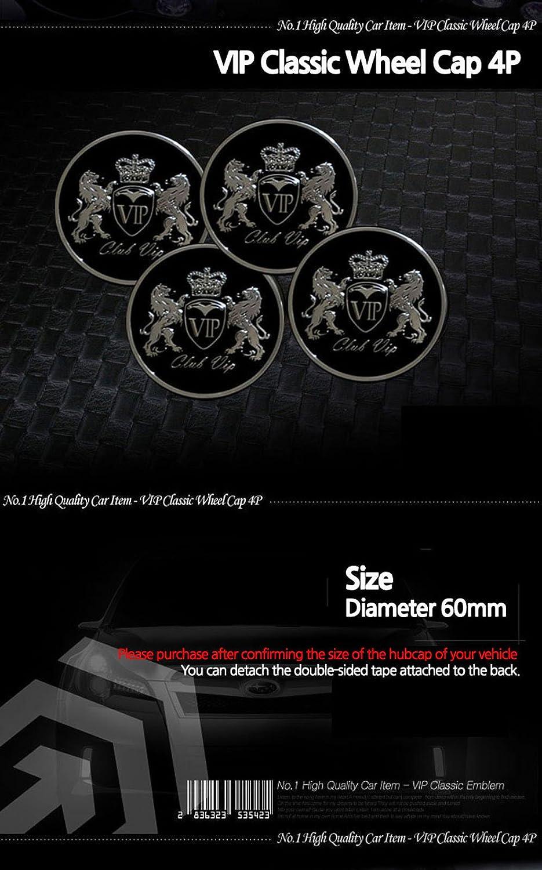 4/x VIP centro de rueda de coche Caps Hub Cap emblema insignia logotipo de le/ón 60/mm para todos los veh/ículos